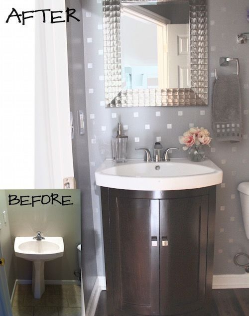 1000 images about bathroom ideas on pinterest farmhouse for Half bathroom designs small spaces