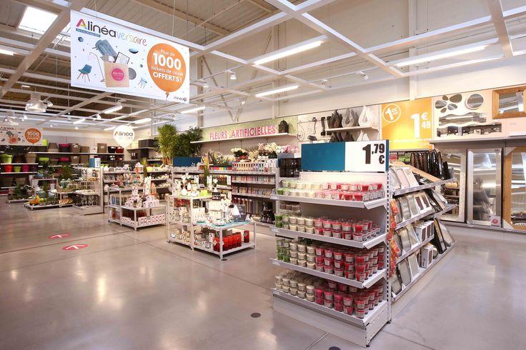 nouveau concept Alinéa - Agencement magasin d'ameublement décoration - mobilier Gondoles