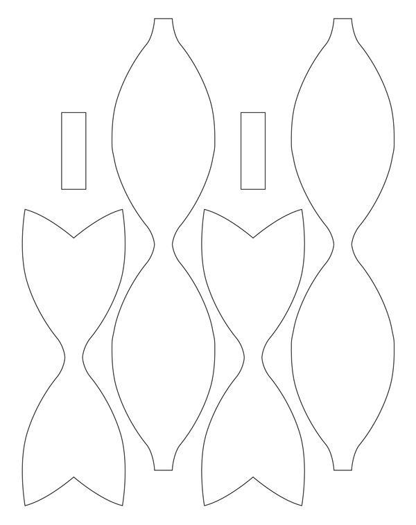Бантики из бумаги для открытки встречи торжественной