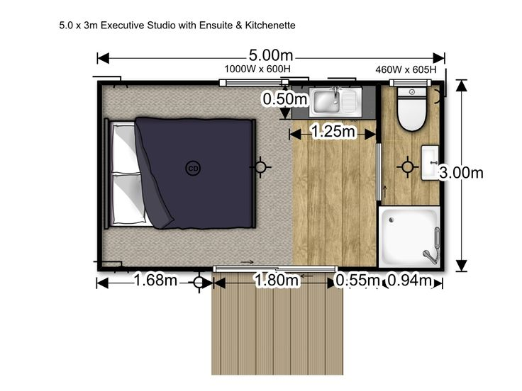 House Me :: Executive Studio with Kitchenette & Ensuite