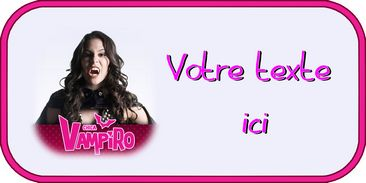 Etiquette azyme Chica vampiro
