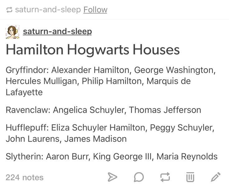 Hamilton characters in Hogwarts>> Know what? Fuck the rest of you, Ravenclaws and SLYTHERINS have more. Gryffindor's do not get everyone