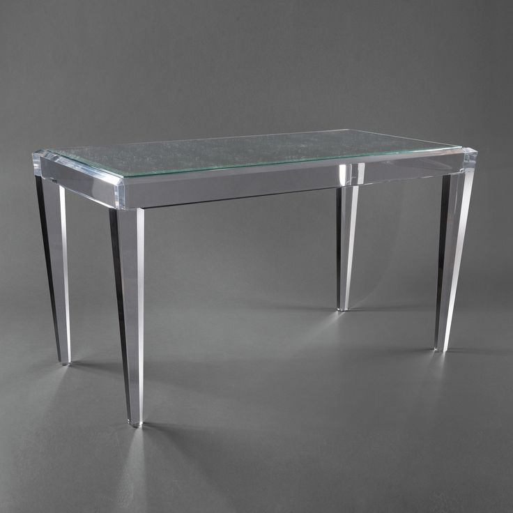 17 best images about acrylic computer desk on pinterest for Small clear desk