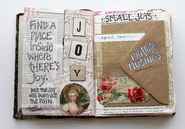 besottment by paper relics: Sewn Journaling Pages Part III