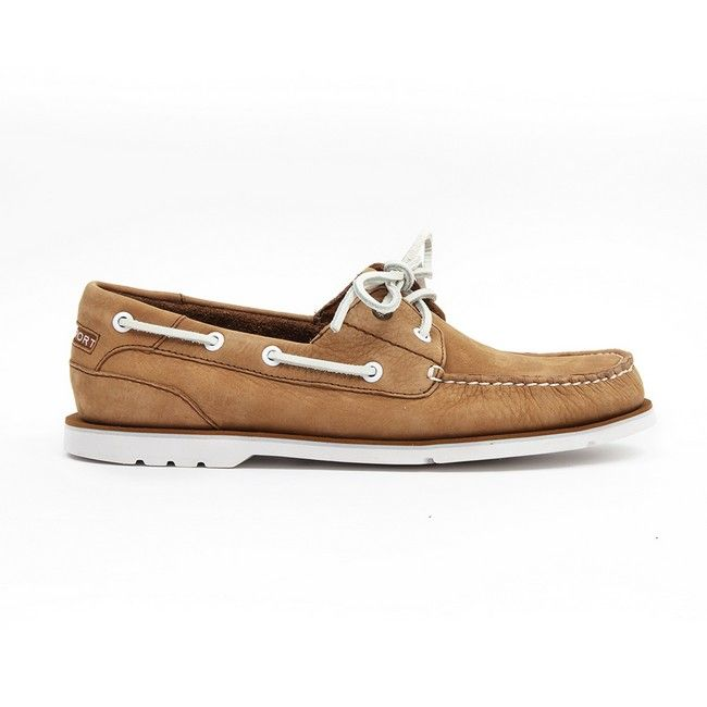 Rockport - Summer Tour 2 Eye Boat - Caramel / White at Cloggs
