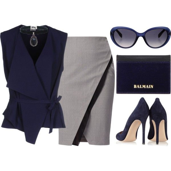 Office Days by mrs-rc on Polyvore featuring Mantù, WtR London, Gianvito Rossi, Balmain, Rock 'N Rose and Emilio Pucci