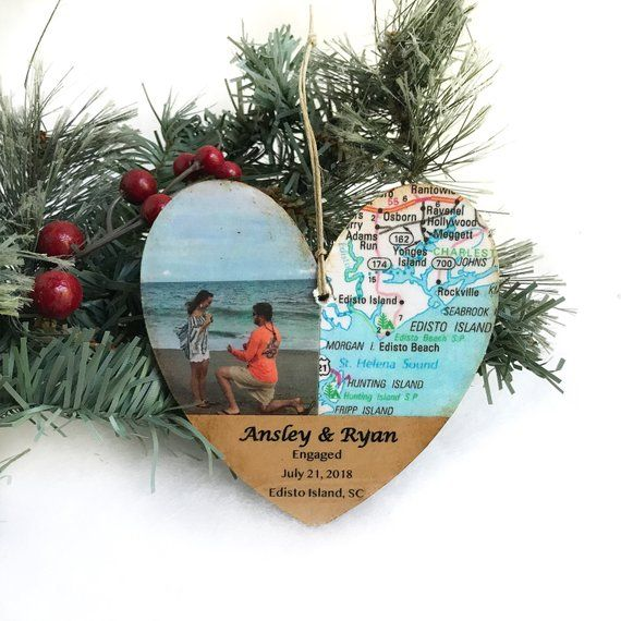 Personalized Engagement Ornament Newly Engaged Ornament Engagement Gift For Couple Engagement Ornaments Engagement Gifts For Couples Personalized Engagement