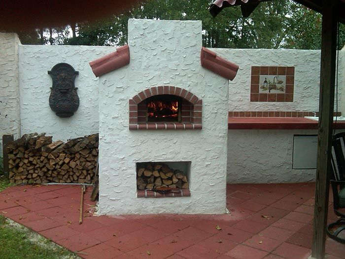 images of stucco finishes | Beautiful stucco finish on the walls of this oven