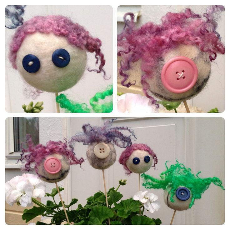 Little felted monsters