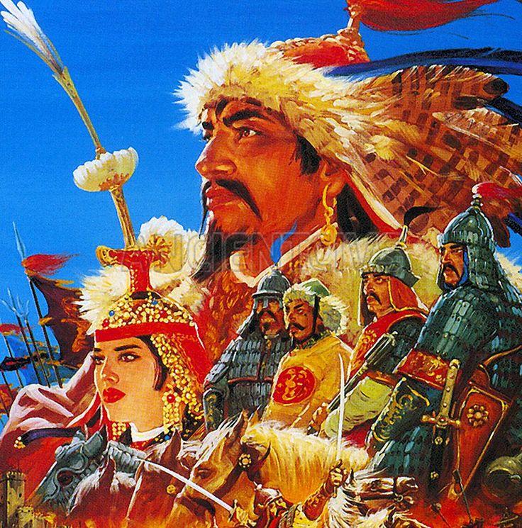 Великий хан Монгольской империи - Тэмуджин Чингисхан  Чингисхан вошел в историю, как беспощадный и безжалостный воин и жесткий, упорный, хитрый правитель. Одно его имя наводило страх и трепет — о его кровожадности слагались легенды  #Тэмуджин #Чингисхан #Монгольская_империя #полководец #орда #Монголия #татаромонголы #монголы  http://ancientcivs.ru/chingishan