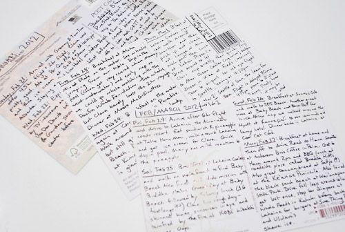 Writing a holiday postcard