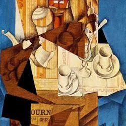 Juan Gris (1914):  El desayuno.  Museo de Arte Moderno. New York. USA