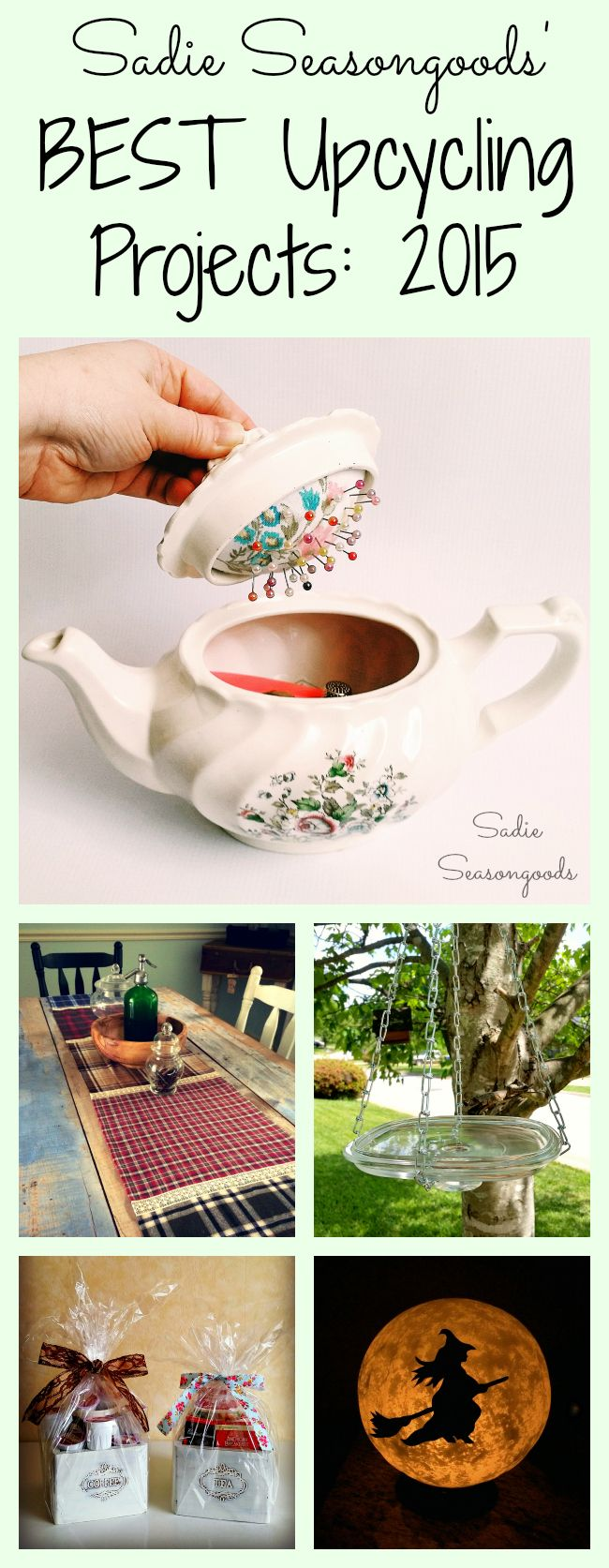 .~Best upcycle and repurpose projects using vintage treasures and thrift store finds by Sadie Seasongoods~.
