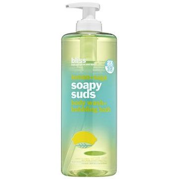 Bliss Lemon + Sage Soapy Suds Body Wash - 16 oz - This is a citrus scented liquid soap that whips up a luxe lather for a refreshing cleanse. It is formulated with glycerin, aloe and vitamin E to condition the skin leaving it soft.