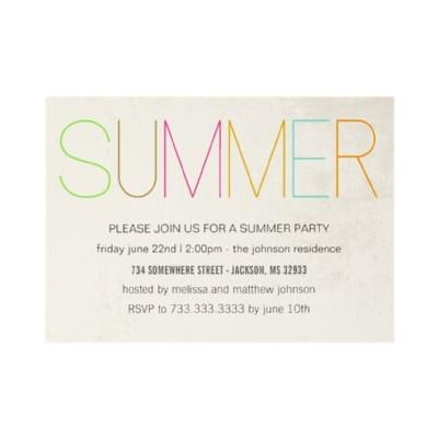 #Summer #Party #Invitations