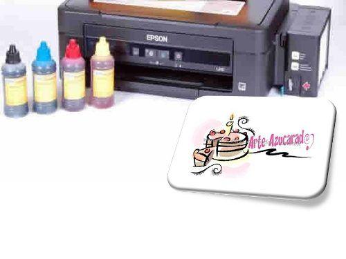 Impresora Epson Canon + 110 Obleas Comestibles +  Kit Tinta - $ 4,400.00