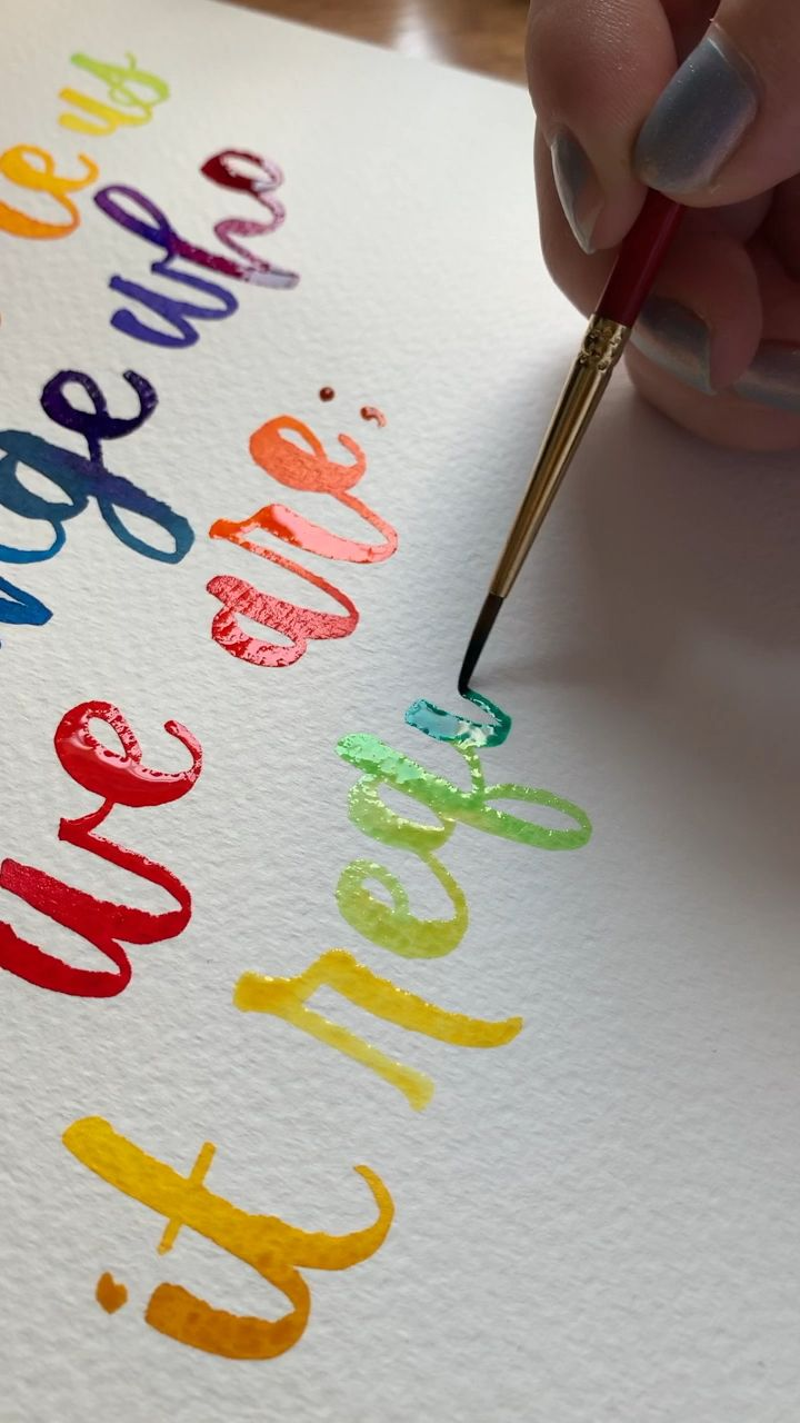 Real time watercolor lettering 😍