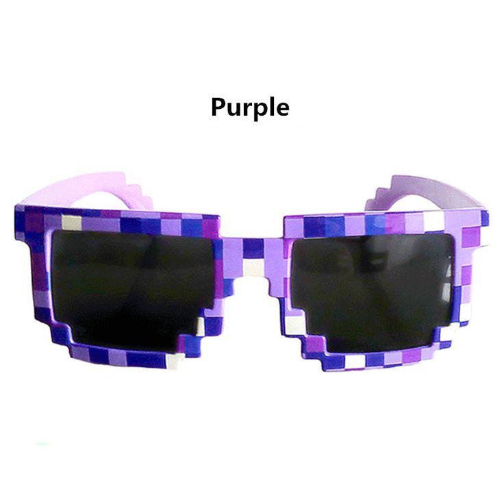 Cổ điển Đối Phó với nó Kính Minecraft 8 bit Pixel Phụ Nữ Đàn Ông Sunglasses Nam Nữ Kính Mặt Trời Khảm trẻ em Trai Cô Gái