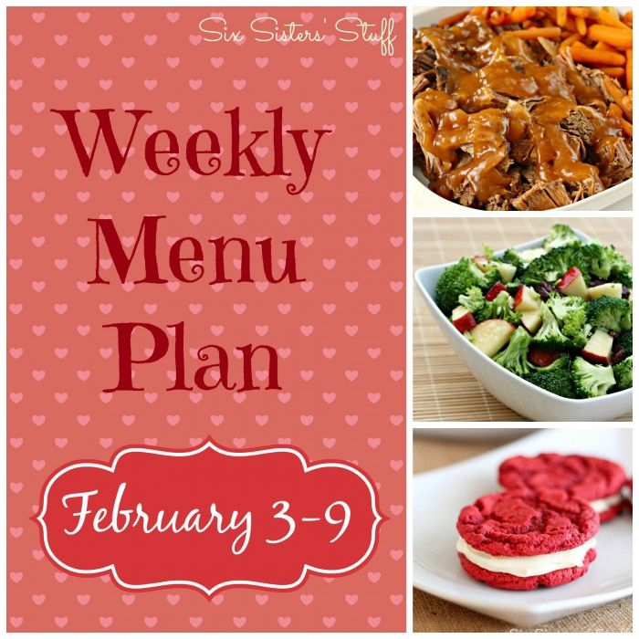 Weekly Menu Plan - great ideas to help make your family dinners easier!