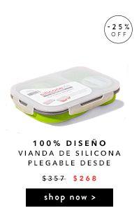 100% DISEÑO: Vianda de silicona plegable