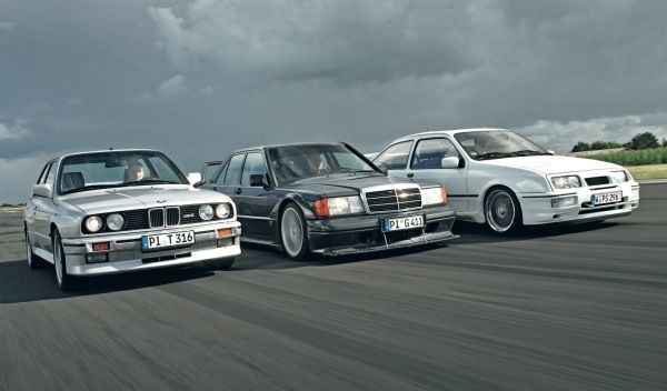 Bmw e30 M3, MercedesBenz 190e Cosworth, Ford Escort