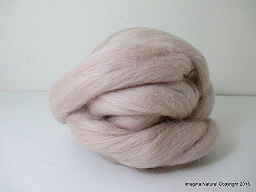 Free Shipping Beige Handmade Merino Roving Wool Hand Spinning Felting Fibre Araucania Craft Art Chilean Knitting Chunky 18 Microns