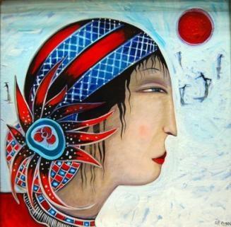 Kiev Ice Festival  Medium: Oil on canvas.... toller cranston