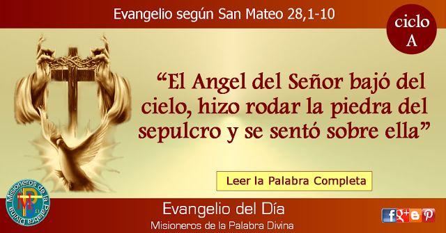 MISIONEROS DE LA PALABRA DIVINA: EVANGELIO - SAN MATEO  28,1-10