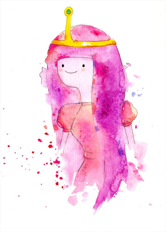 Princess Bubblegum Mini Print 5x7 inch inch inkjet by nicolesloan