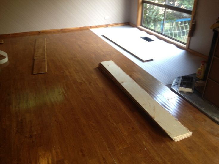 Distressed Timber Installation. Underlay has been laid and now we are onto the beautiful timber planks
