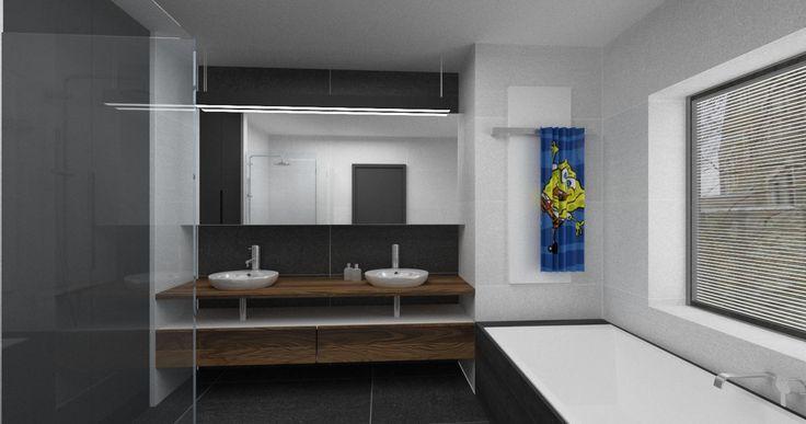 mieszkanie dla mężczyzny - projekt łazienki