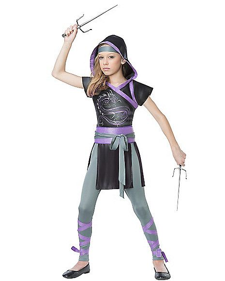 Ninja Fighter Girls Costume - Spirithalloween.com