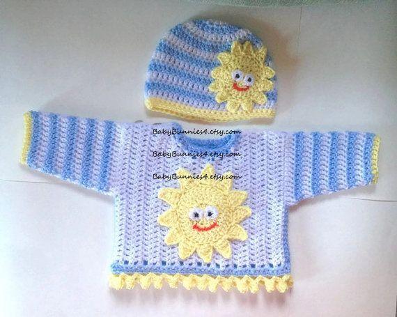 Sunshine maglione e cappello Set. Bambino perfetto di BabyBunniez
