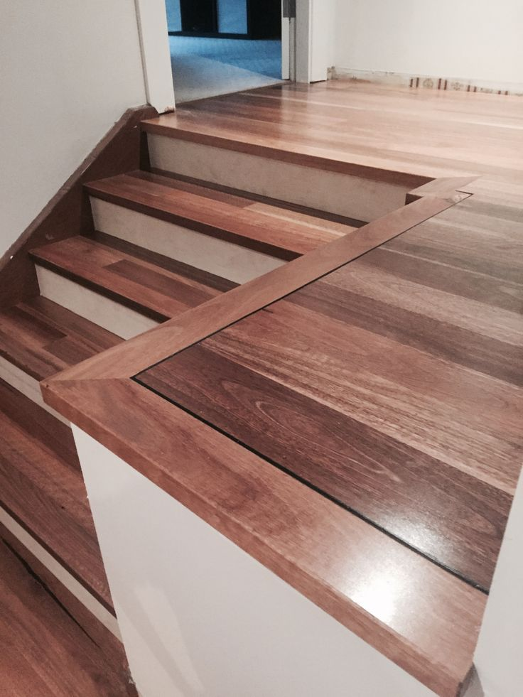 Spotted Gum Floating Floor With White Stair Risers Custom Hand Made Nosing Detailed To Laminate Flooring On Stairs Railing Design