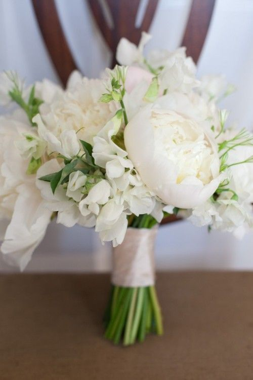 Love the wide ribbon wrapped around the stems.