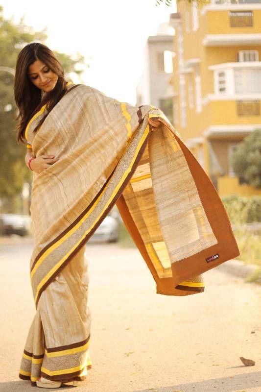 khadi Ghicha saree