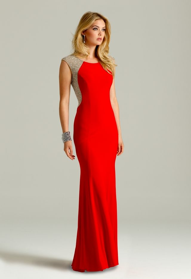 Jersey illusion beaded dress from camille la vie and group for Dream prom com wedding dresses