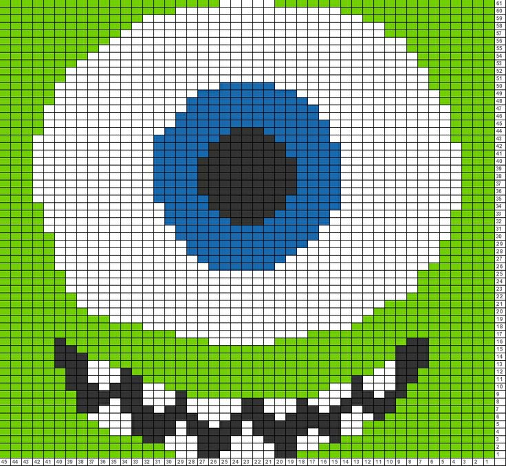Tricksy Knitter Charts: mikey monsters inc copy