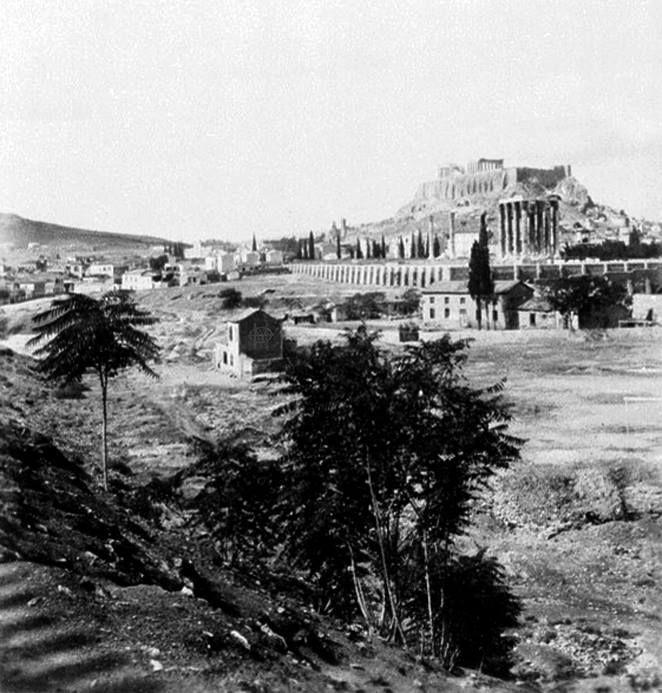 Rudolf Eder, 1909-10, Αθήνα, άποψη Στύλων Ολυμπίου Διός.