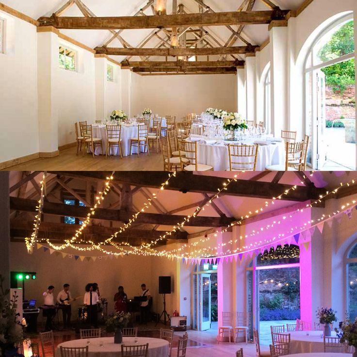 Fairy lighting canopy at Dorney Court. Coach House Barn  http://www.lexmarqueehire.co.uk/dorney-court-wedding