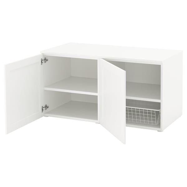 Platsa White Sannidal White Storage Bench Ikea Banc De Rangement Rangement Solutions De Rangement