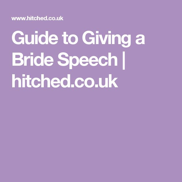 Guide to Giving a Bride Speech | hitched.co.uk