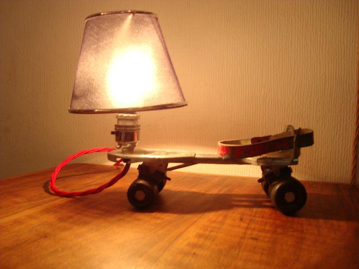 Vintage roller skate light. Www.lostandfoundry.co.uk