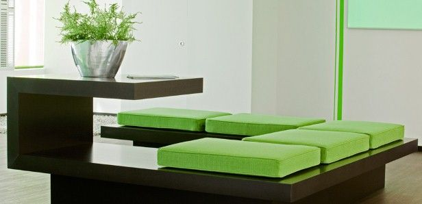 Lounge Möbel als Empfangselement