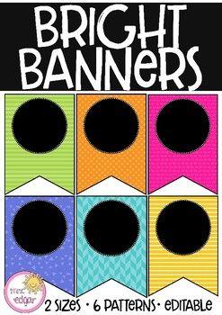 Editable Patterned Banner | Black