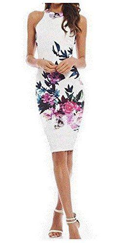 ZEARO #Vestidos de #Mujer #Verano Elegante Slim Larga #Falda con Estampado Flor (S)