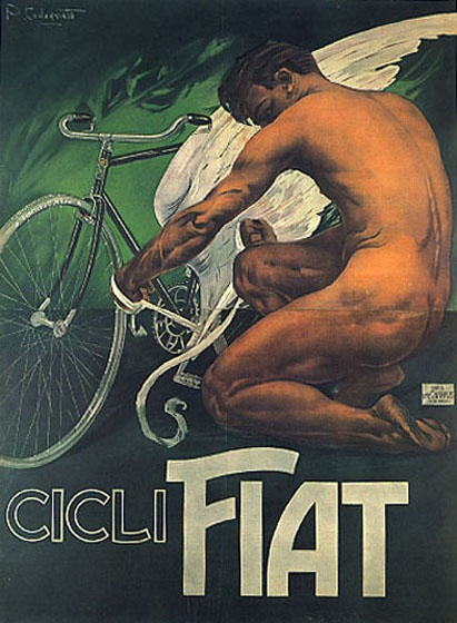 Love the oil paint look so much.. Tying wings to the Pedals of the cycle, too cool!