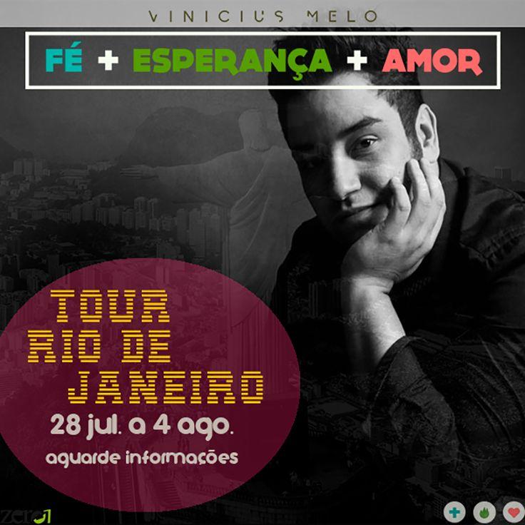 Vinicius Melo e Banda estão em turnê no Rio de Janeiro! http://bit.ly/1rMQZdf Mais informações em breve!