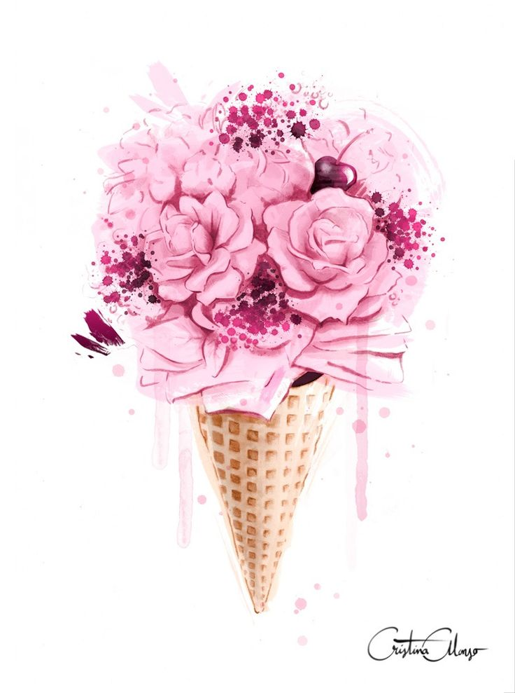 Image of Ice Cream Bouquet Print