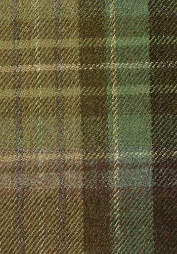 Lomond Tartan Fabric Sage, green, purple and beige wool tartan